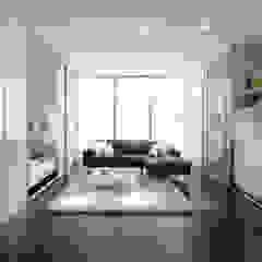 Studio Flat Room Divider Sliding Doors by Bravo London. من Bravo London Ltd حداثي زجاج