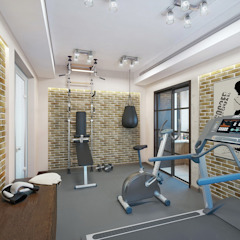 Classic gym by Design studio of Stanislav Orekhov. ARCHITECTURE / INTERIOR DESIGN / VISUALIZATION. Classic