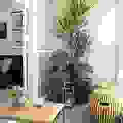 Moderner Balkon, Veranda & Terrasse von Fernanda Moreira - DESIGN DE INTERIORES Modern Bambus Grün