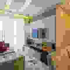 Obra Santo Andre Salas de estar modernas por Silvana Borzi Design Moderno