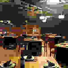 Area de fumadores Narda Davila arquitectura Gastronomía de estilo moderno Madera Acabado en madera
