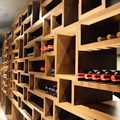 Cava Narda Davila arquitectura Gastronomía de estilo moderno Madera Acabado en madera