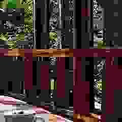 Jardin tropical par BR ARQUITECTOS Tropical Bois Effet bois