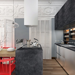 1+1 studio Eclectic style kitchen
