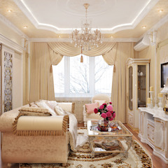 Classic style living room by Студия дизайна Interior Design IDEAS Classic