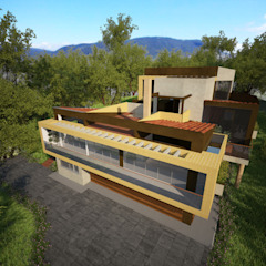 Casa Hernandez Casas de estilo mediterráneo de Lápiz De Sueños Mediterráneo