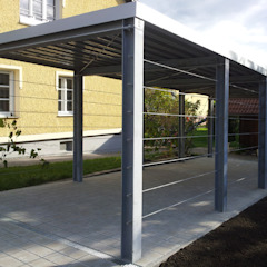 Arch. DI Peter Polding ZT Classic style garage/shed Iron/Steel