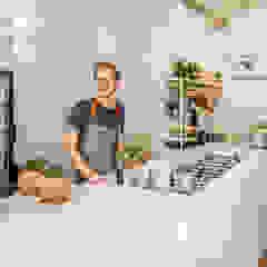 Design Studio Nu Gastronomia in stile industrial Bianco