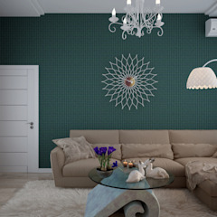 Salas modernas de Студия интерьерного дизайна happy.design Moderno