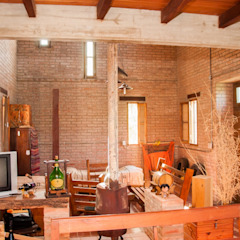 Rustik Oturma Odası Abitar arquitectura Rustik