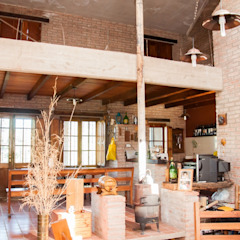 Rustik Yemek Odası Abitar arquitectura Rustik