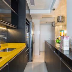 Apartamento de 40 metros quadrados. Cozinhas ecléticas por Lo. interiores Eclético