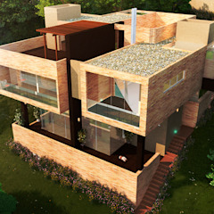 CASA VALLEJO Casas de estilo mediterráneo de Lápiz De Sueños Mediterráneo