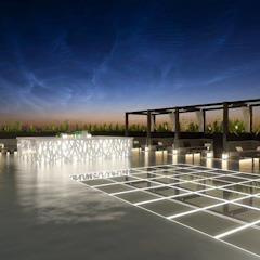 Restaurante Japão por DRCF Arquitectos Industrial