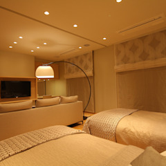 Asian style bedroom by 株式会社Juju INTERIOR DESIGNS Asian Wood Wood effect