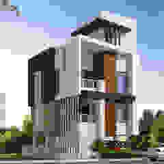 Casas modernas de Spacemekk Designers p.LTD Moderno Madera Acabado en madera