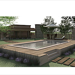Country style pool by Ronda Estudio Country