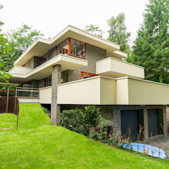 STROOM architecten Moderne Häuser Beige
