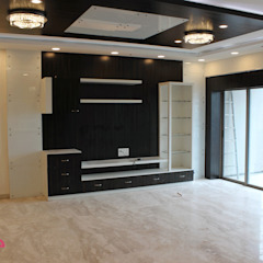 Country style living room by ECUBE INTERIOR SOLUTIONS PVT LTD Country Plywood