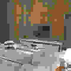 Horta e Vello Arquitetura e Interiores Salon moderne Bois Effet bois