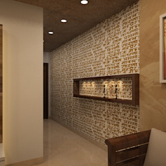 Asian style corridor, hallway & stairs by Prism Architects & Interior Designers Asian