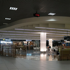Reabilitação geral do Aeroporto de Lisboa (em obra) Aeroportos modernos por MIGUEL VISEU COELHO ARQUITECTOS ASSOCIADOS LDA Moderno