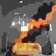 Realizacja. Panele Chain w poczekalni. od FLUFFO fabryka miękkich ścian Industrialny