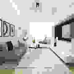 Alsemberg Salon moderne par ZR-architects Moderne