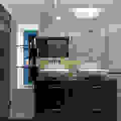 Luxury Modern Cottage Buckinghamshire Quirke McNamara Modern style bathrooms Brown