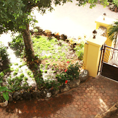 Casa Rokx, Willemstad Curaçao Tropische tuinen van architectenbureau Aerlant Cloin BNA Tropisch