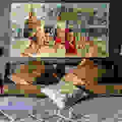 Our photoshoot of apartment located in Warsaw Kolonialna sypialnia od Ayuko Studio Kolonialny