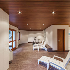 Rustic style gym by VNK Arquitetura e Interiores Rustic