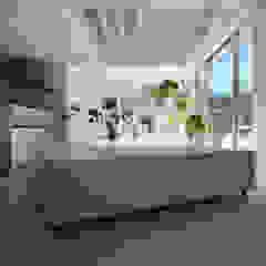 Salas de estilo moderno de 伊波一哉建築設計室 Moderno Madera Acabado en madera