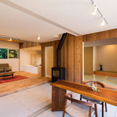 つなぐ家 オリジナルスタイルの 玄関&廊下&階段 の エヌ スケッチ オリジナル