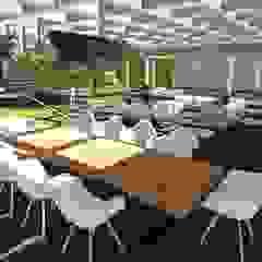 Jardim residencial moderno com áreas para lazer Varandas, alpendres e terraços rústicos por Studio² Rústico