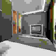Mieszkanie na Woli Egzotyczna sypialnia od ZAWICKA-ID Projektowanie wnętrz Egzotyczny