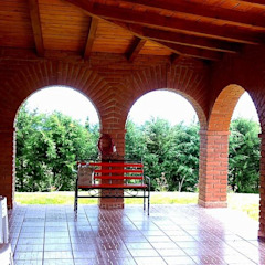 Rustic style corridor, hallway & stairs by OMR ARQUITECTURA & DISEÑO DE INTERIORES Rustic