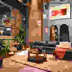 Showroom Salas modernas de The Blue House Moderno