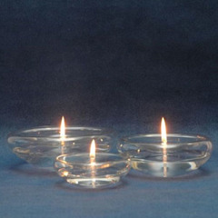 Tranquil Glass Oil Lamp Candle: minimalist  by The London Candle Company, Minimalist Glass