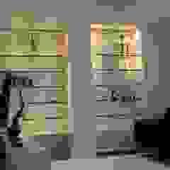 RESIDENCIA TAO GRANADOS - Mueble y enchape salon Mako laboratorio Salas/RecibidoresEstanterías Madera Blanco