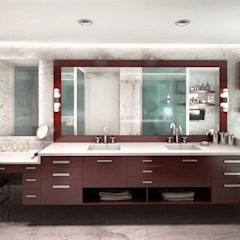 Baño ampliado Baños de estilo ecléctico de KorteSa arquitectura Ecléctico Mármol