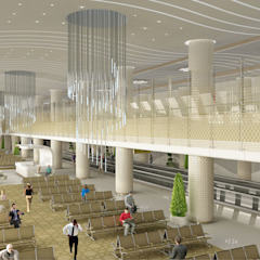 Ashgabat International Airport Aeroportos asiáticos por Tekeli-Sisa Mimarlık Ortaklığı Asiático