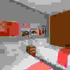 トロピカルスタイルの 寝室 の Antônio Ferreira Junior e Mário Celso Bernardes トロピカル