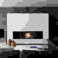 Lareiras Metalfire - Lenha Salas de estar modernas por Biojaq - Comércio e Distribuição de Recuperadores de Calor Lda Moderno