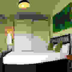 ABCDEstudio Mediterranean style bedroom Wood Wood effect
