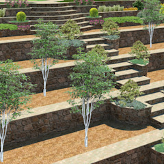 Jardines mediterráneos de konseptDE Peyzaj Fidancılık Tic. Ltd. Şti. Mediterráneo Piedra