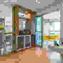 Bodegas de vino de estilo moderno de Eveline Maciel - Arquitetura e Interiores Moderno