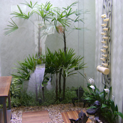 PAISAGISMO: JARDINS DE INVERNO BY MC3 Jardins de inverno mediterrâneos por MC3 Arquitetura . Paisagismo . Interiores Mediterrâneo