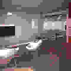 Reforma departamento: Living-comedor Livings de estilo minimalista de ARQUITECTURA EN IMÁGENES Minimalista