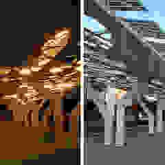 Mediterranean style garage/shed by COFFICE Mediterranean Wood Wood effect